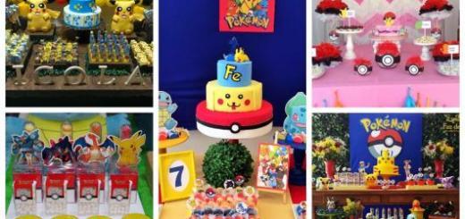 festa pokémon dicas de decoração