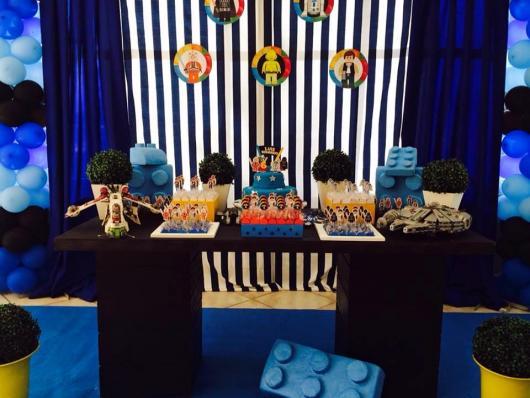 Festa Star Wars enfeite de lego azul