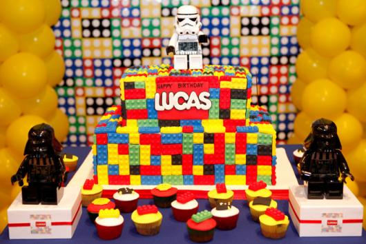 Festa Star Wars bolo de lego