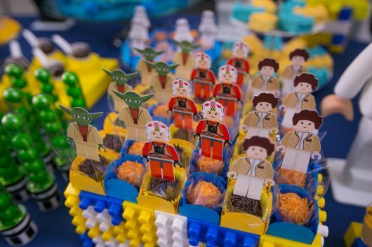Festa Star Wars porta doces de lego