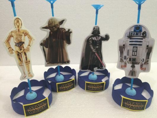 Festa Star Wars centro de mesa porta bexiga