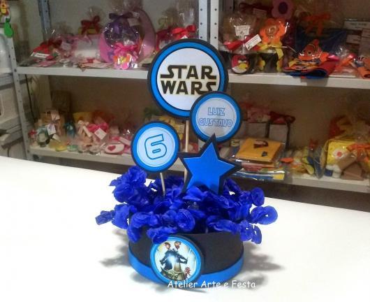 Festa Star Wars centro de mesa porta balas