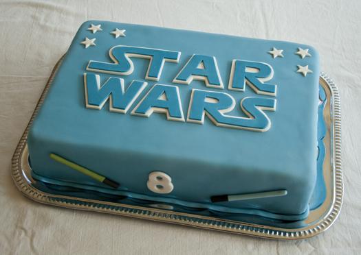 Festa Star Wars bolo de pasta americana azul