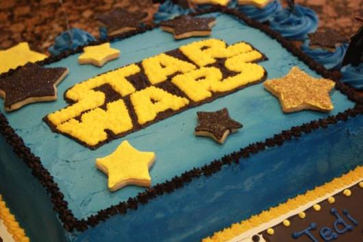 Festa Star Wars bolo de chantilly