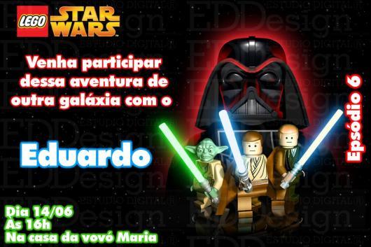 Festa Star Wars convite cartão