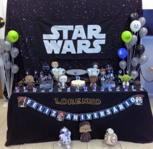 Festa Star Wars painél de bandeirinhas
