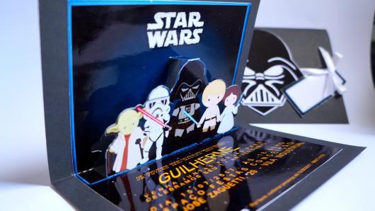 Festa Star Wars convite 3d