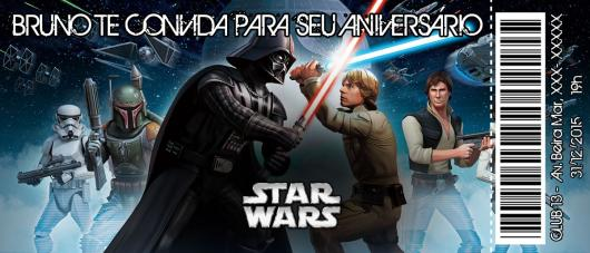 Festa Star Wars convite ingresso