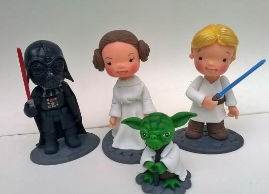 Festa Star Wars lembrancinha de biscuit