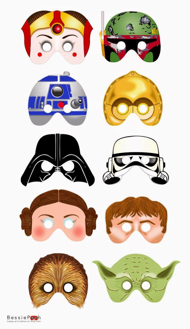 Festa Star Wars kit mascara imprimir