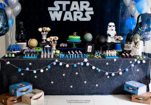 Festa Star Wars varal de bolinhas