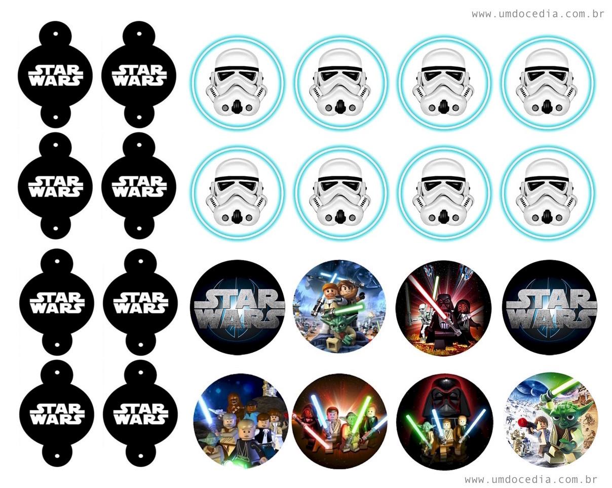 Festa Star Wars kit festa para imprimir