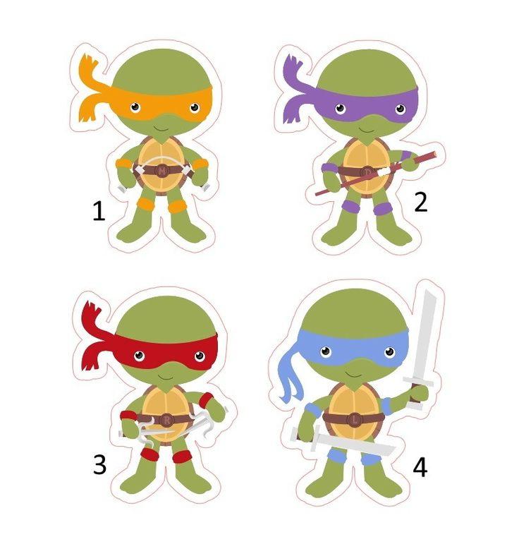 Festa Tartarugas Ninja kit festa topper