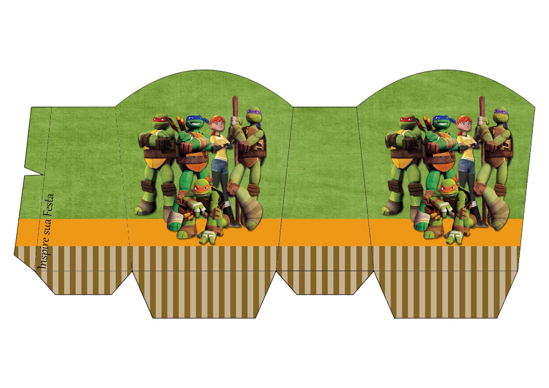 Festa Tartarugas Ninja kit festa caixa para doces
