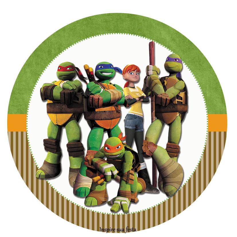 Festa Tartarugas Ninja kit festa topper para cupcake