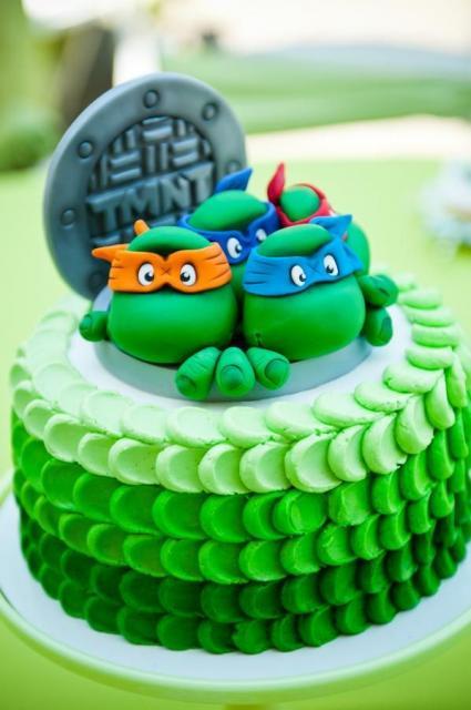 Festa Tartarugas Ninja bolo de chantilly