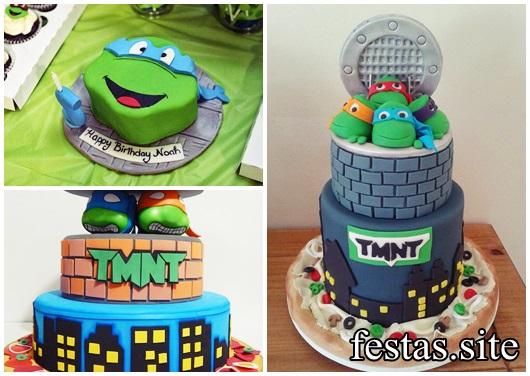 Festa Tartarugas Ninja modelos de bolo