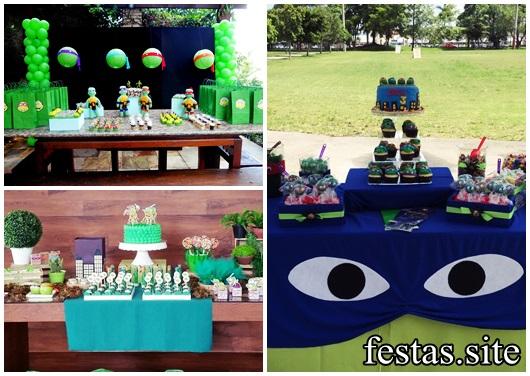 Festa Tartarugas Ninja modelos de decoração