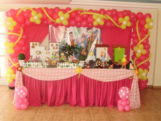 Festa Turma da Mônica Jovem rosa e amarela