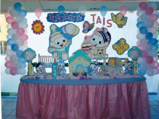 Festa Turma da Mônica baby com apliques de papel