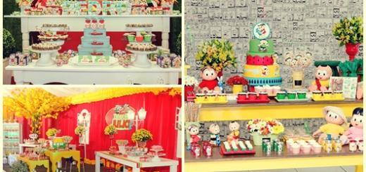 Festa Turma da Mônica modelos de decoração simples