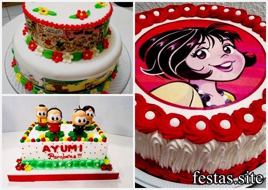 Festa Turma da Mônica bolos decorados