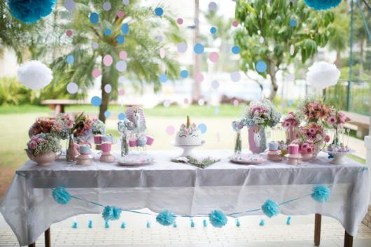 Festa Unicórnio simples ao ar livre