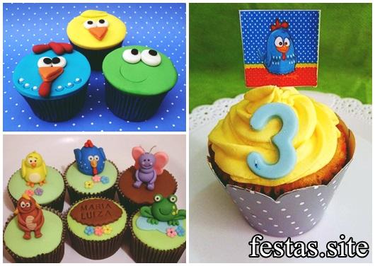 cupcake galinha pintadinha de chantilly e pasta americana