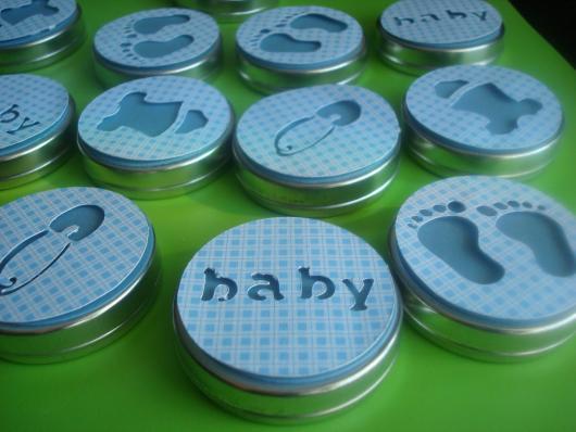 Latinhas para Lembrancinhas de chá de bebê