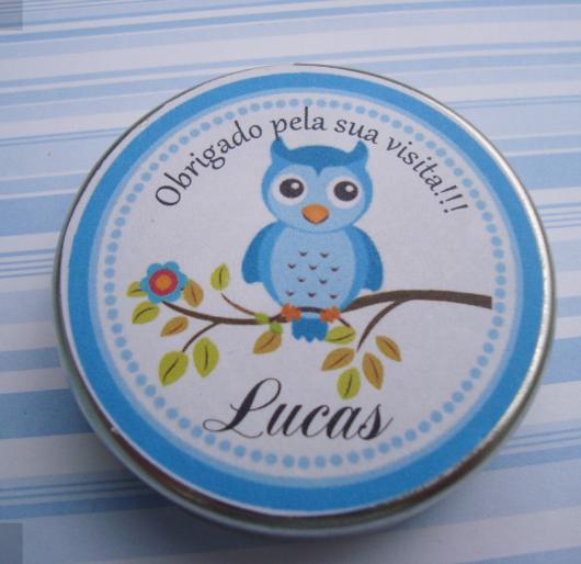Latinhas para Lembrancinhas personalizada corujinha
