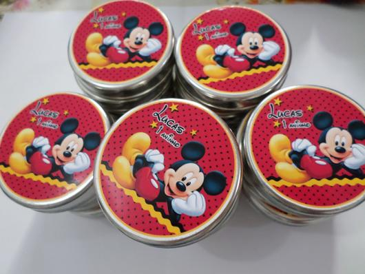 Latinhas para Lembrancinhas personalizada Mickey