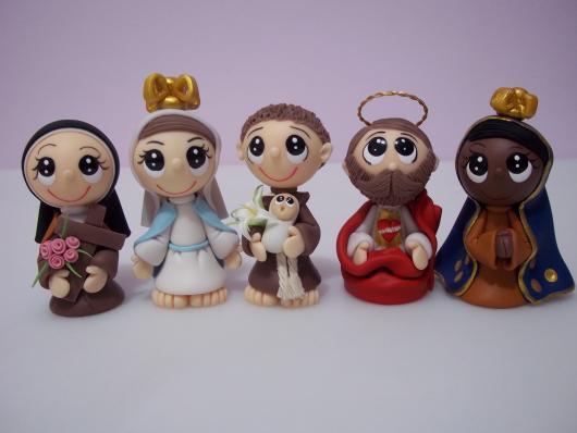 Lembrancinhas de Biscuit dia das mães mini santinhos
