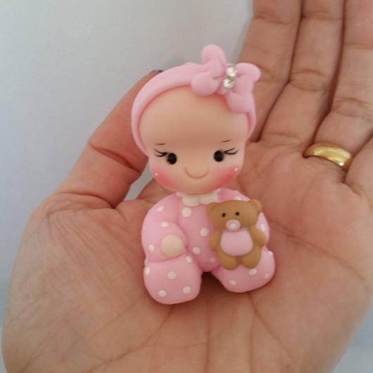 Lembrancinhas de Biscuit maternidade menina