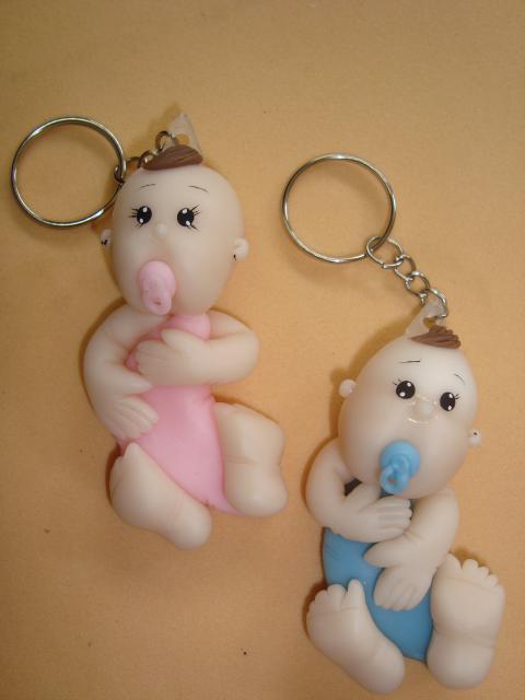 Lembrancinhas de Biscuit maternidade chaveiros