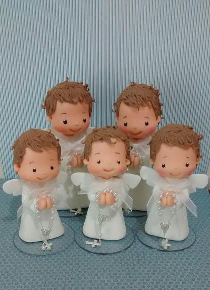 Lembrancinhas de Biscuit para batizado anjinho