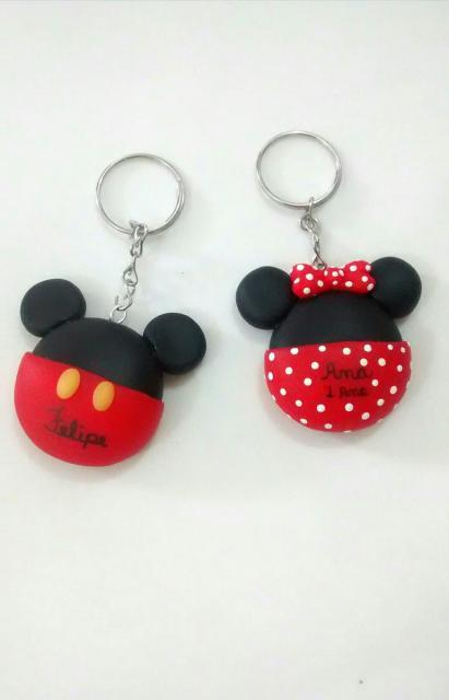 Lembrancinha de biscuit chaveiro do Mickey