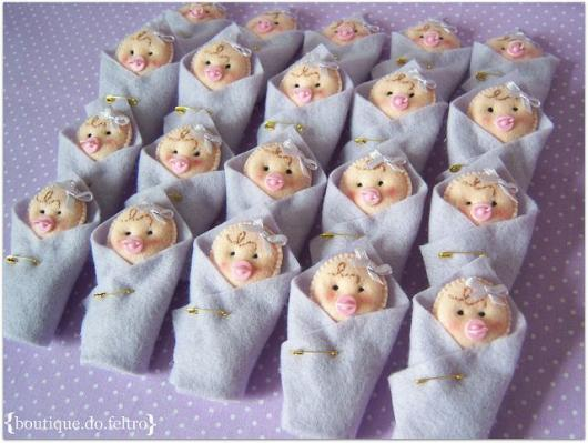 Lembrancinhas de Feltro maternidade mini bebê