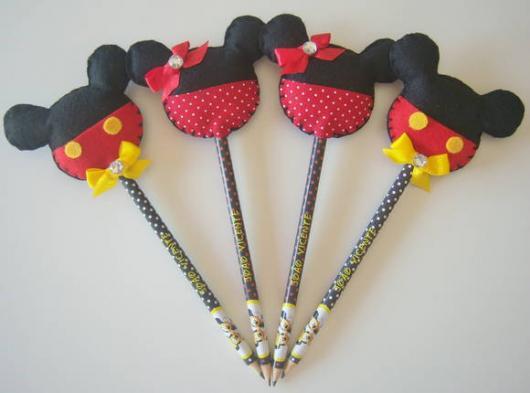 Lembrancinhas de Feltro ponteira de feltro do Mickey