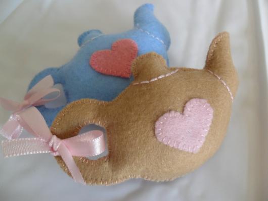 Lembrancinhas de Feltro chá de panela mini bule