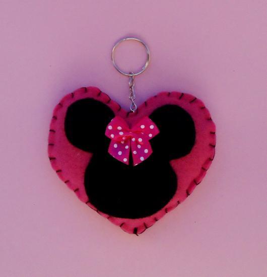 Lembrancinhas de Feltro Minnie chaveiro