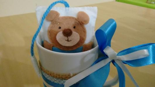 Lembrancinhas de Feltro chá de bebe ursinho na xícara