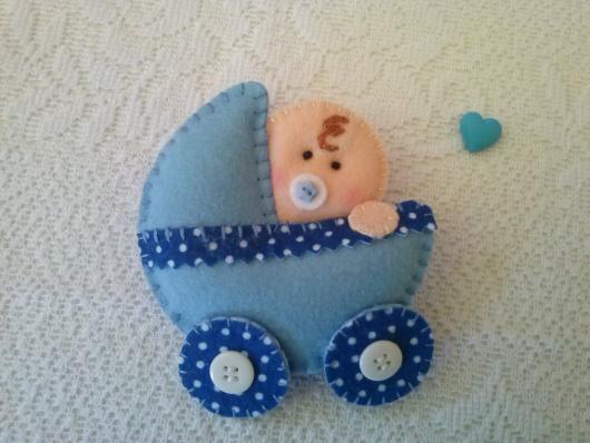 Lembrancinhas de Feltro bebê no carrinho