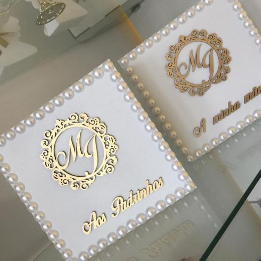 Lembrancinhas para padrinhos de batismo caixa de MDF personalizada