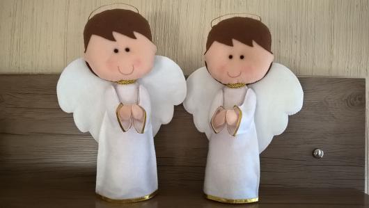 Lembrancinhas para padrinhos de batismo anjinhos