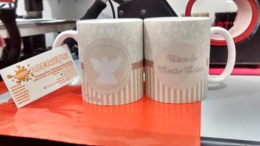 Lembrancinhas para padrinhos de batismo xícara personalizada