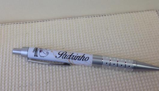 Lembrancinhas para Padrinhos de Casamento caneta personalizada