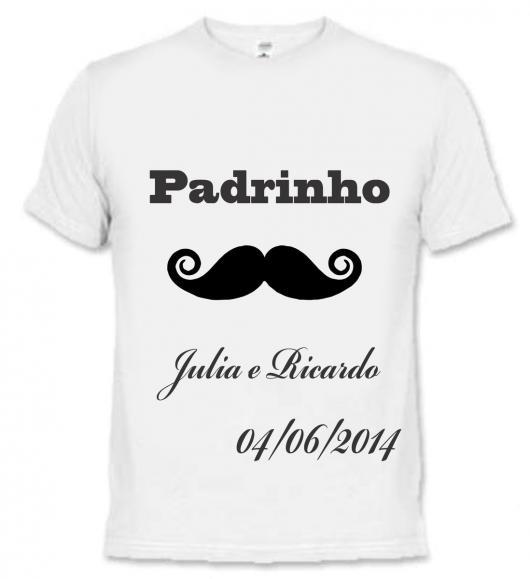 Lembrancinhas para Padrinhos de Casamento camiseta personalizada