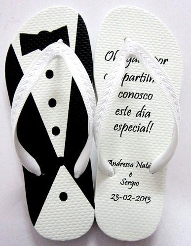 Lembrancinhas para Padrinhos de Casamento chinelo personalizado
