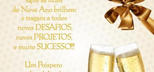 Mensagens de Ano Novo para Amigos desejando sucesso