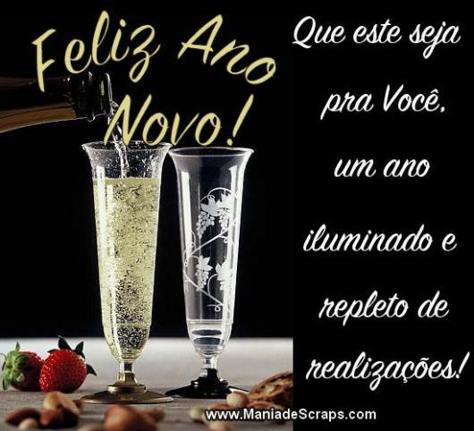 Mensagens de Ano Novo para Amigos desejando luz na vida